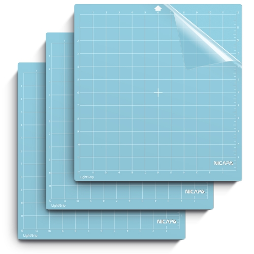 Nicapa Cutting Mat for Silhouette Cameo 3/2/1 [Light-Grip,12x12 inch 3pack]