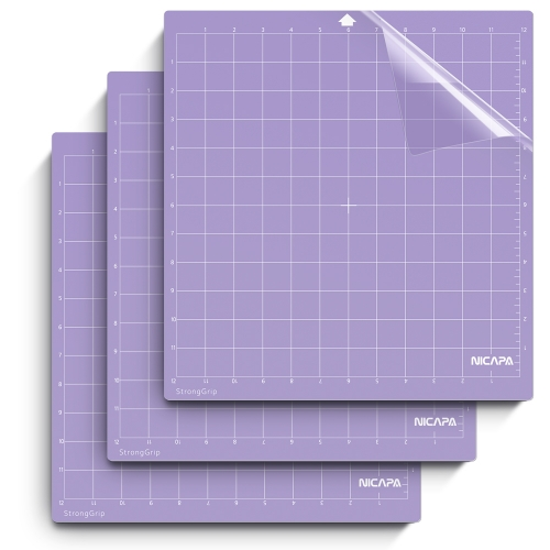 Nicapa Cutting Mat for Silhouette Cameo 3/2/1 [Strong-Grip,12x12 inch 3pack]
