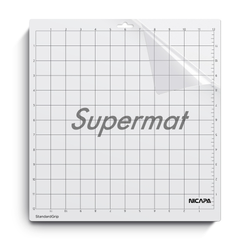 Nicapa Cutting Mat for Silhouette Cameo[500times Reusable][Standardgrip,12x12inch,1pack]