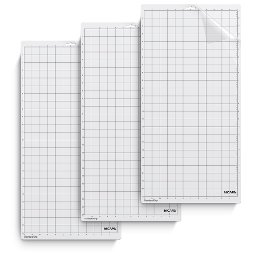 Nicapa Cutting Mat for Silhouette Cameo 3/2/1 [Standard-Grip,12x24 inch 3pack]