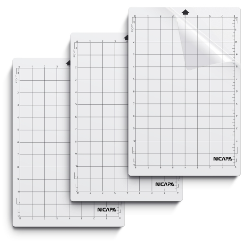 Nicapa Cutting Mat for Silhouette Portrait [Standardgrip, 8x12 inch 3pack]