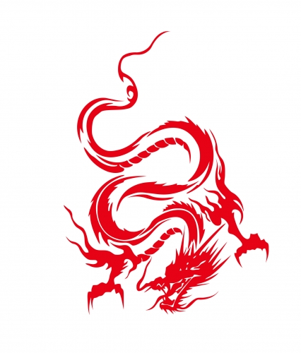 Red dragon-png
